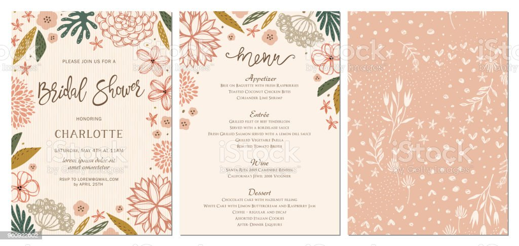 Invitation and Card Design Set_14 vector art illustration