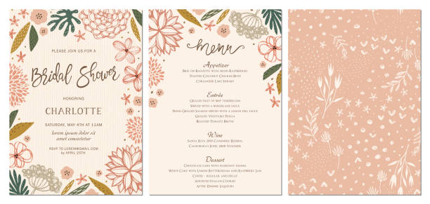 Invitation et carte Design Set_14 - Illustration vectorielle