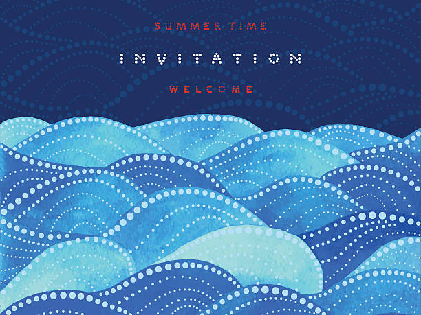 Invitation and welcome card - ilustración de arte vectorial