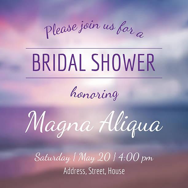 invitation bridal shower card vector template vector art illustration