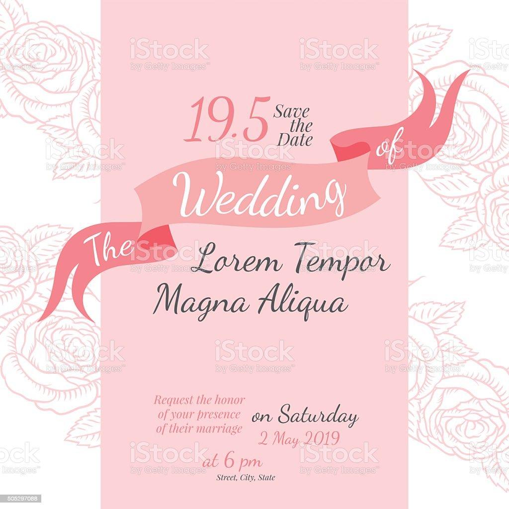 Invitation Bridal Shower Card With Rose Flower Stock Vector Art