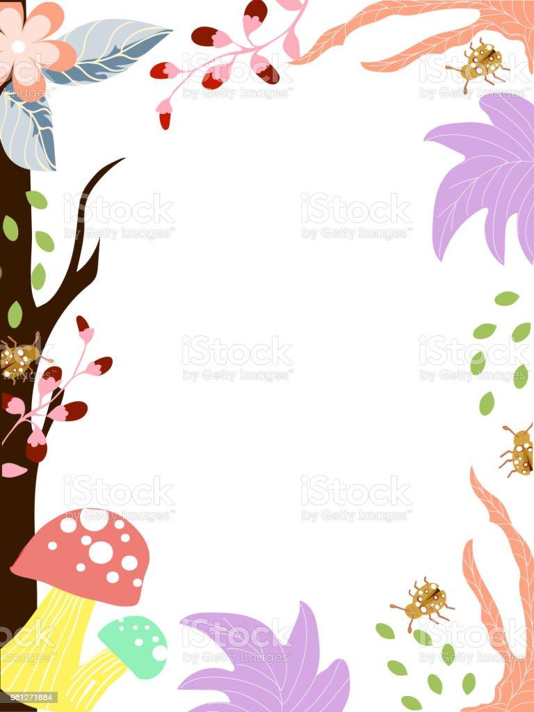 Invitation Card Cute Flower Stock Illustration Download