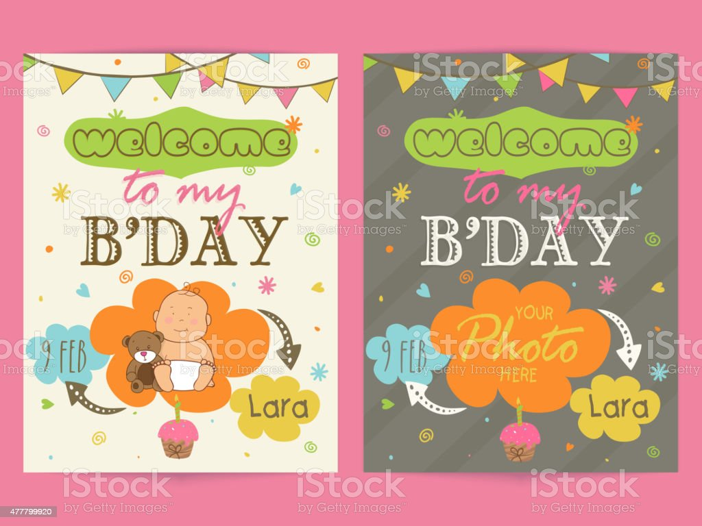 Invitation Card Design For Birthday Party Stock Illustration