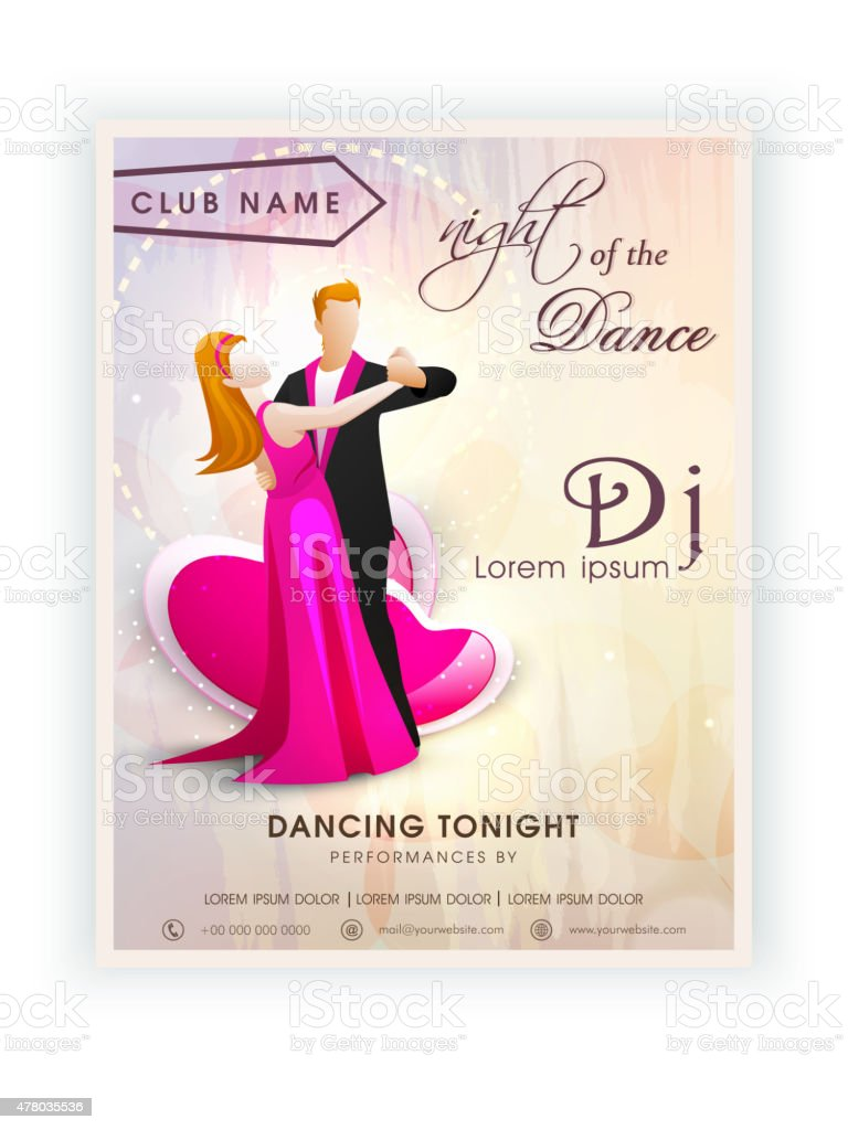 Invitation Card Design For Dance Party Stock Vector Art & More ...