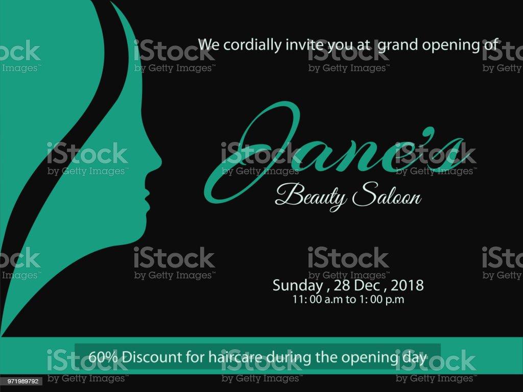 Invitation card design for hair salon opening arte vetorial de invitation card design for hair salon opening invitation card design for hair salon opening stopboris Choice Image