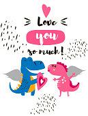 Invitation card for a dinosaur party
