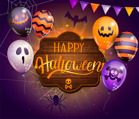 Invitation card for Happy Halloween party.