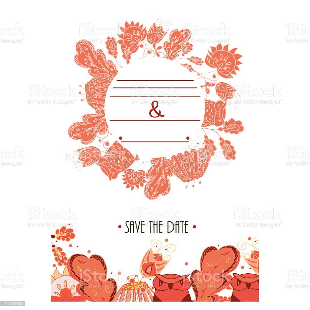 Karta Zaproszenie Na ślub Grafika Wektorowa Stockowe Grafiki