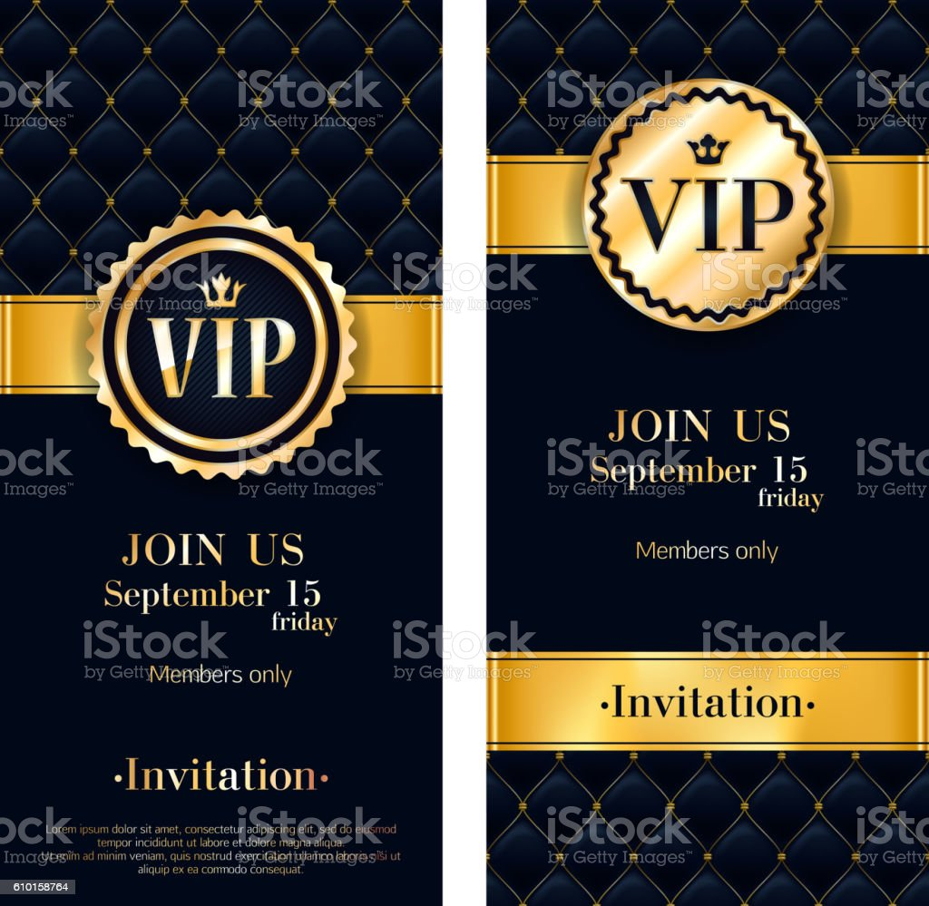 Vip invitation card premium design template stock vector art vip invitation card premium design template royalty free stock vector art stopboris Image collections