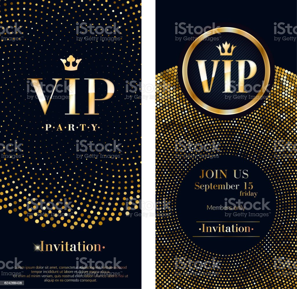 VIP invitation card premium design template. vector art illustration