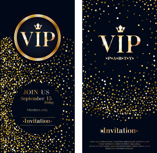 illustrations, cliparts, dessins animés et icônes de modèle de conception vip invitation carte premium - voyages en première classe