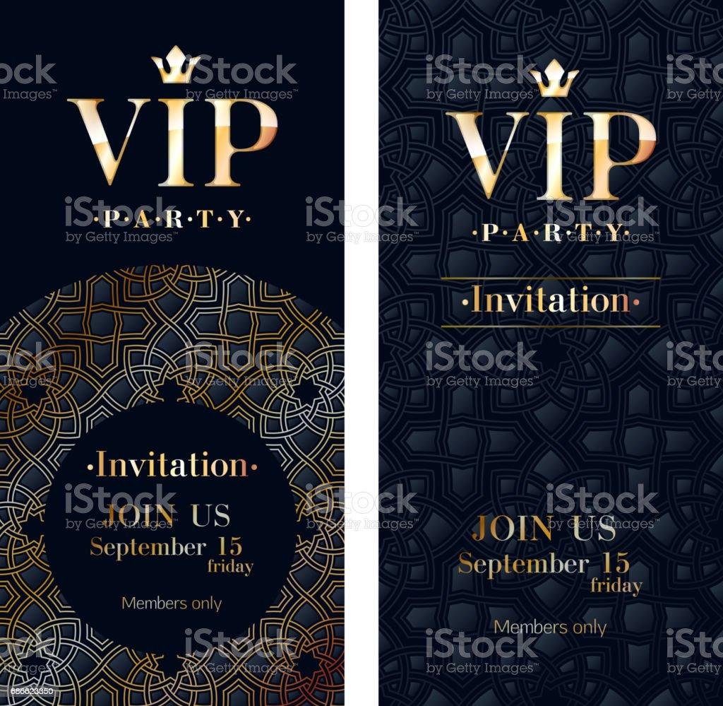 Vip Invitation Card Premium Design Template Stockowe