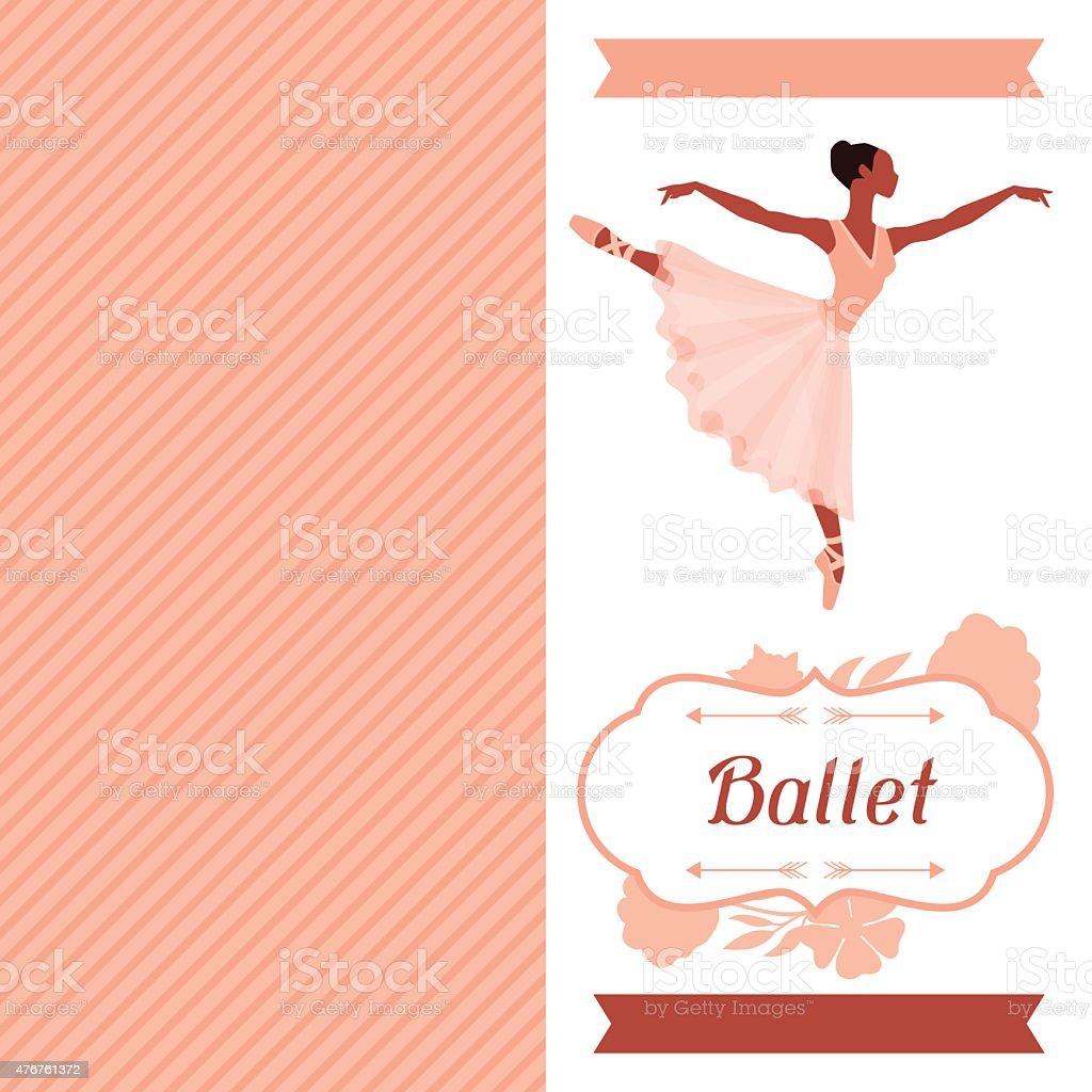 Ilustración De Invitación Tarjeta Para El Ballet Danza Show