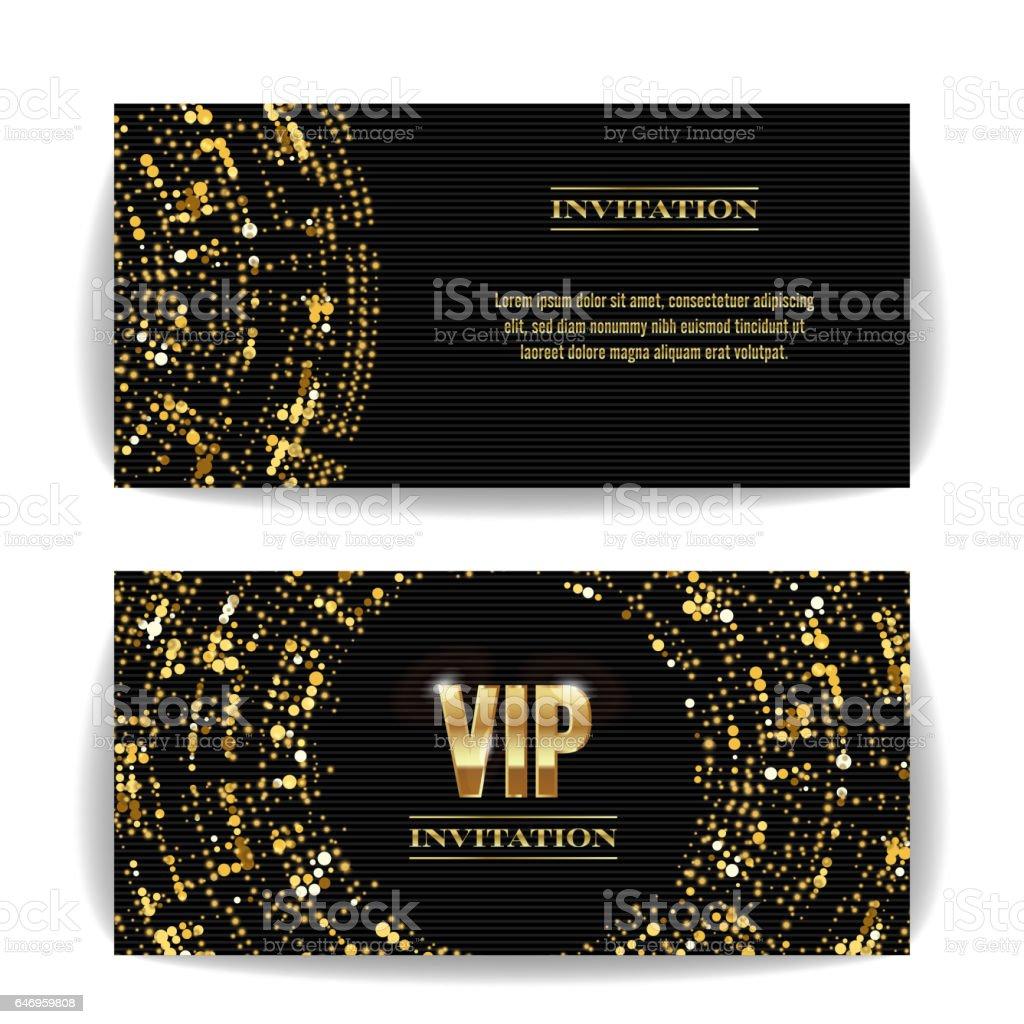 Vip Invitation Card Vector Party Premium Blank Poster Flyer Black