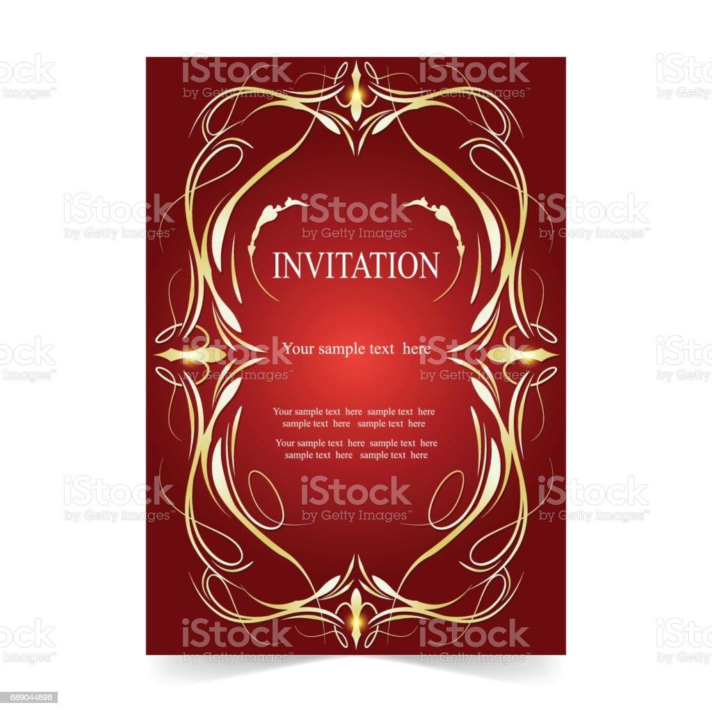 Ilustrao de invitation card wedding card ornamental red background invitation card wedding card ornamental red background ilustrao de invitation card wedding card ornamental red stopboris Image collections