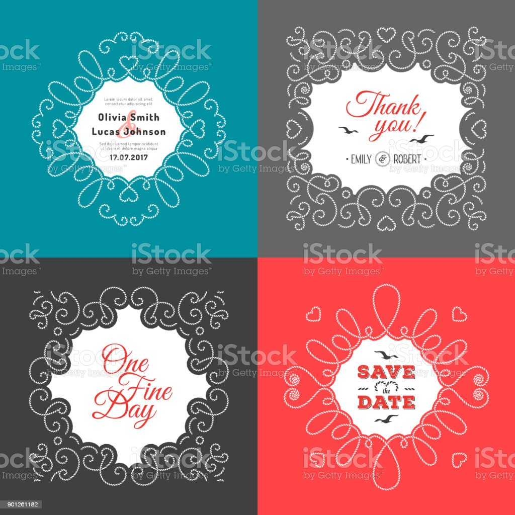 Invitation Card Wedding Design Template Postcards