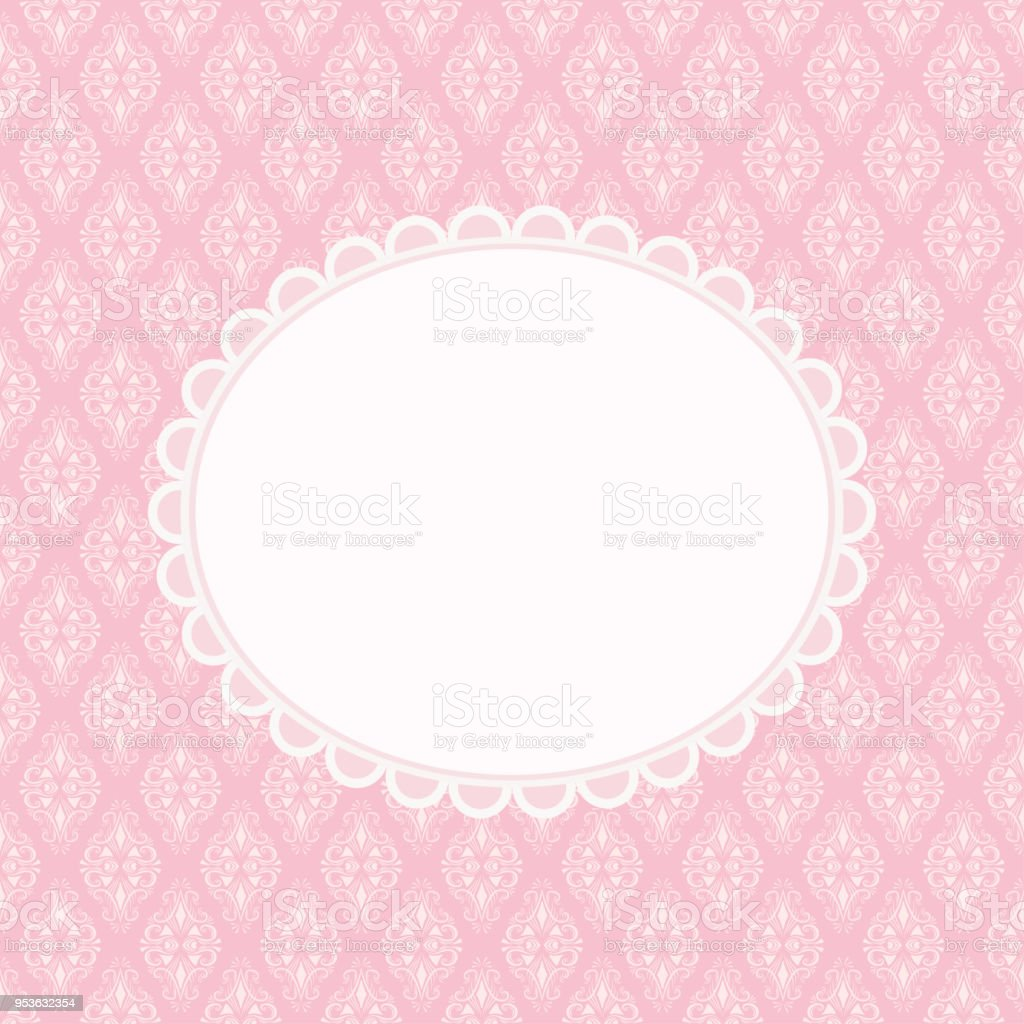 Invitation Card With Blank Space For Text On Pink Background
