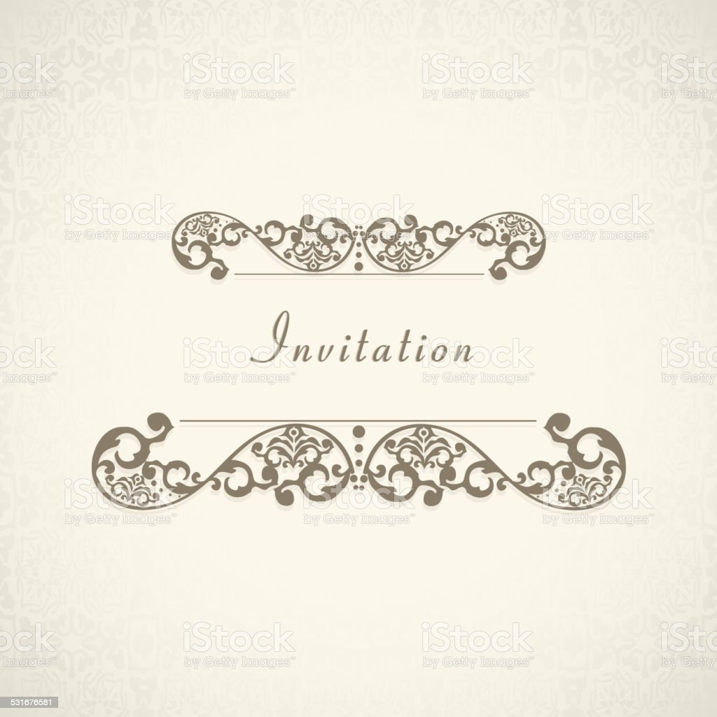 Invitation card with floral decoration stock vector art more invitation card with floral decoration royalty free invitation card with floral decoration stock vector stopboris Choice Image