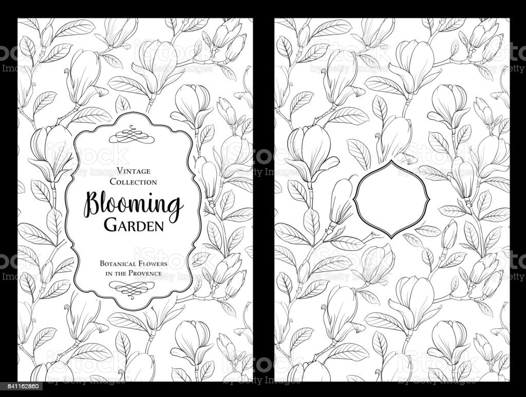Invitation card with flowers vector art illustration