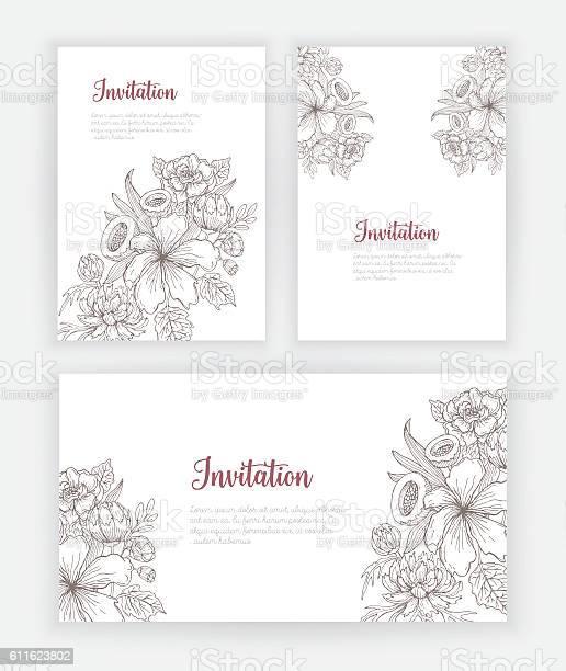 Invitation card with hand drawn flowers vector id611623802?b=1&k=6&m=611623802&s=612x612&h=4c1wrf kxgbgrsacp suepr8a5orogq2euvjnif7g48=