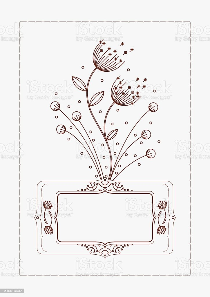 invitation cards template with floral dandelion elements 16 stock
