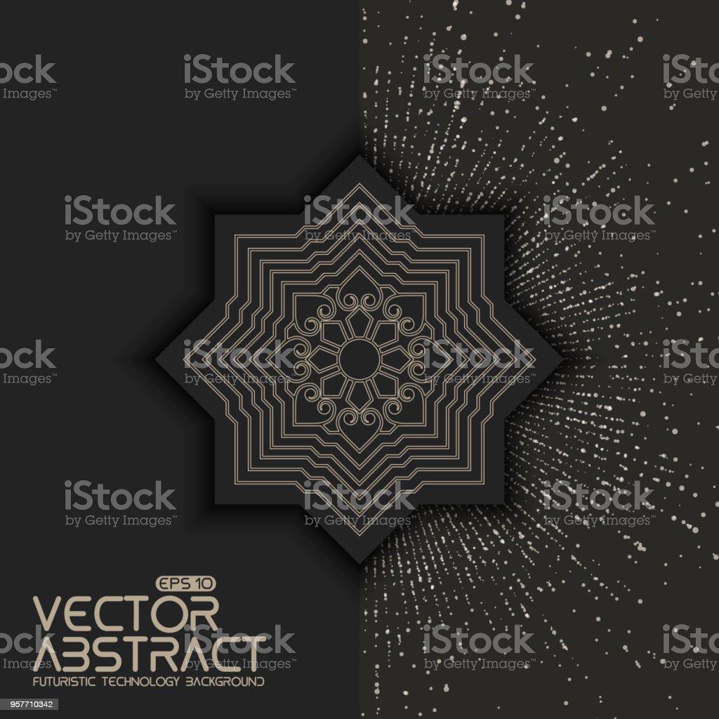 Invitation Cartes Avec Des Lments Ethniques Arabesque Lment De Style Asiatique Dessin