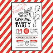 Invitation carnival party.