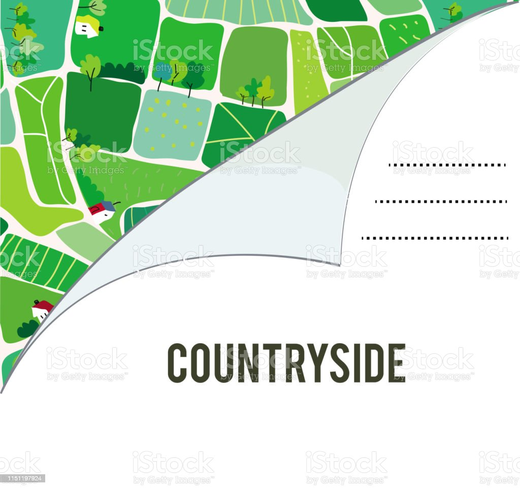 Invitation for the countryside summer camp - vector graphic...