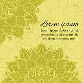 Invitation, greeting card, congratulation, postcard, banner, flyer with mandalas.