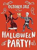 Invitation  illustration to Halloween party.