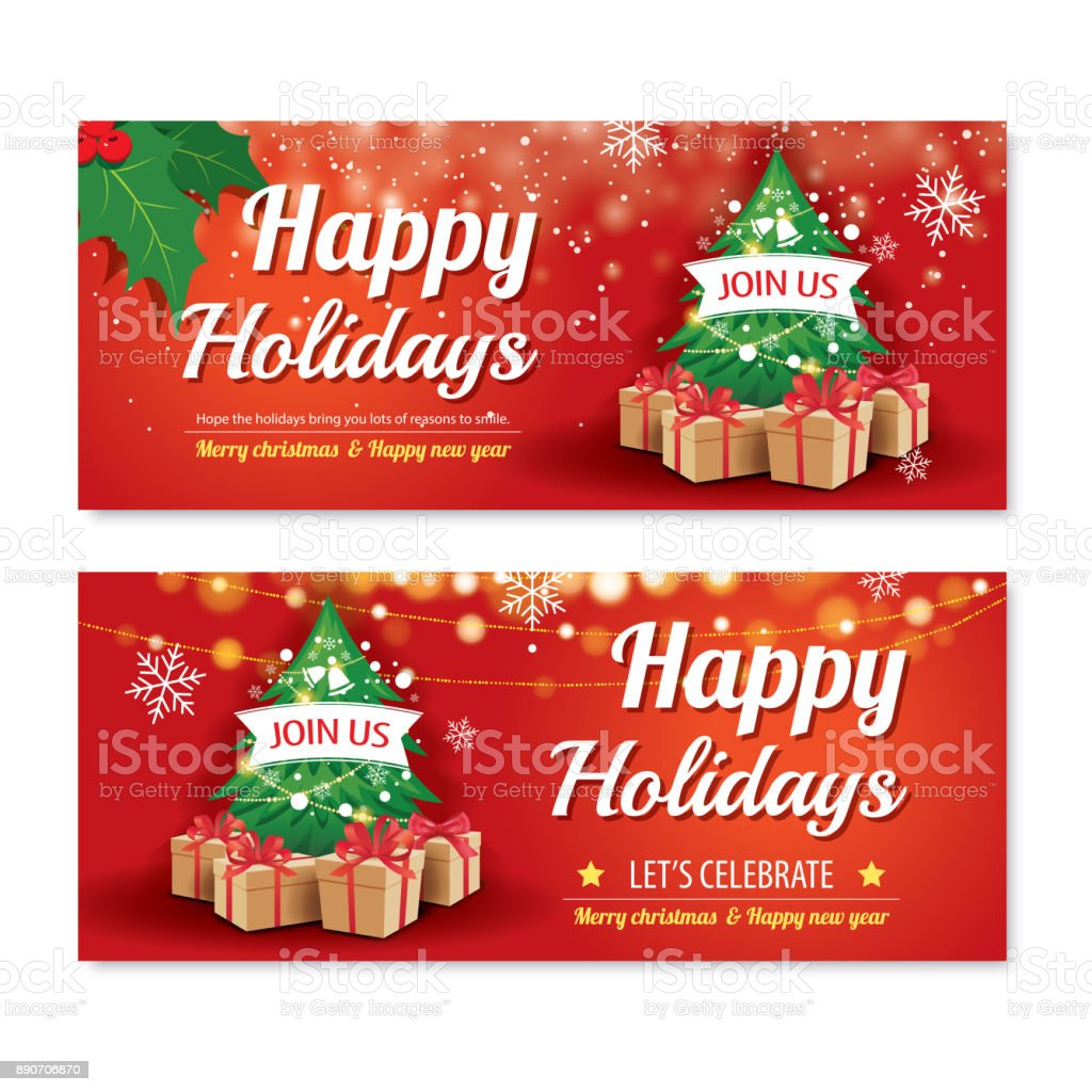 Ilustración De Invitación Feliz Navidad Partido Cartel
