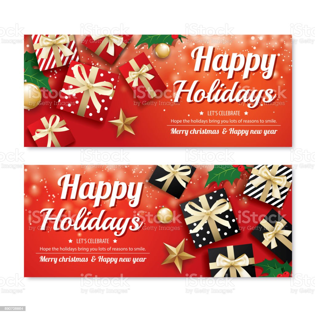 Invitation Merry Christmas Poster Banner And Card Design