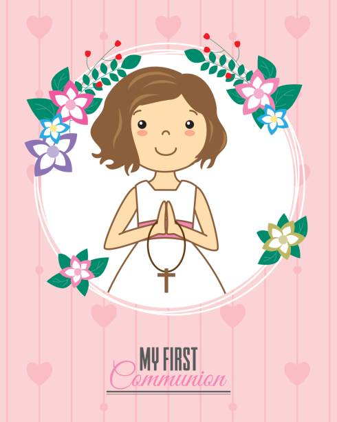 invitation my first communion - communion stock illustrations, clip art, cartoons, & icons