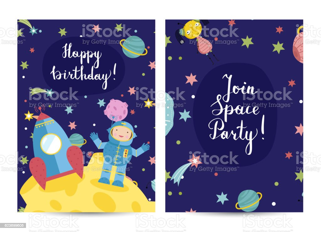 Invitation on Children Costumed Birthday Party vector art illustration