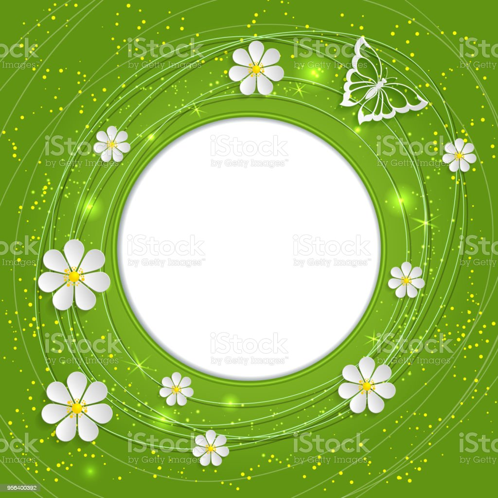 Invitation Or Wedding Card With Flower Background And Elegant Floral ...