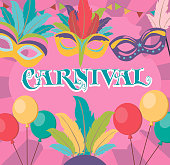 "Invitation poster for carnival ""Mardi Gras"""