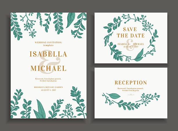 invitation, save the date, reception card. - bohemian fashion stock illustrations, clip art, cartoons, & icons