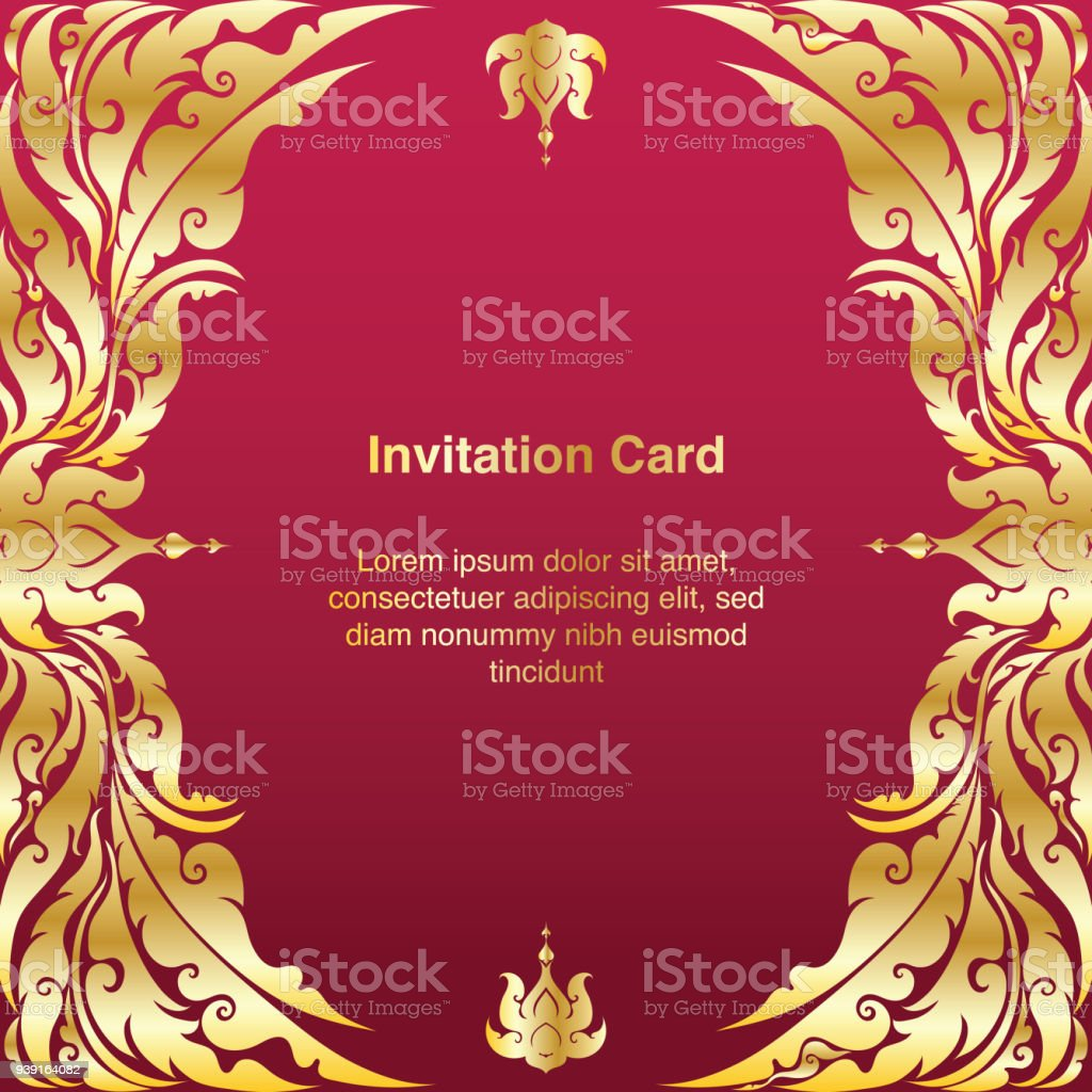 Invitation Template Background And Frame Border Vector