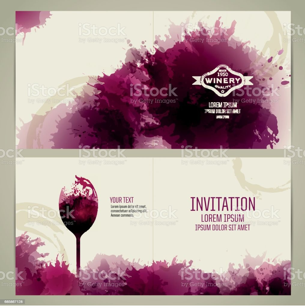 invitation template for wine event or party invitation お祝いの