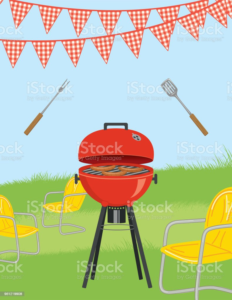 bbq invitation template stock vector art more images of barbecue