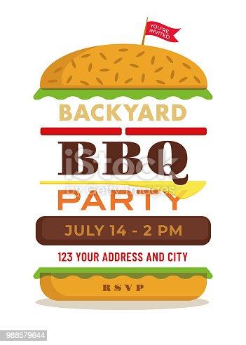 BBQ Invitation Template - Illustration