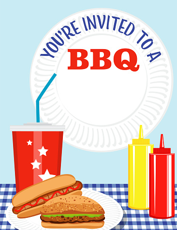 BBQ Invitation Template With Copy Space