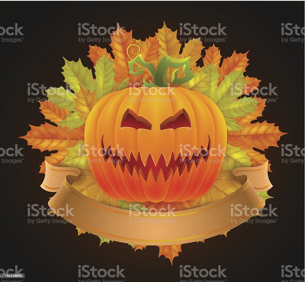invitation to halloween vector art illustration