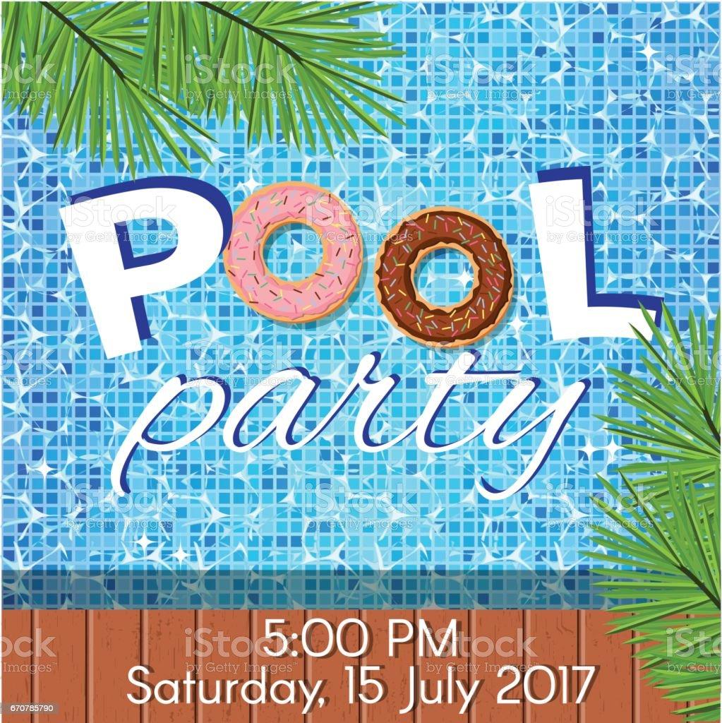 Einladung Zur Poolparty Stock Vektor Art und mehr Bilder von Ansicht ...