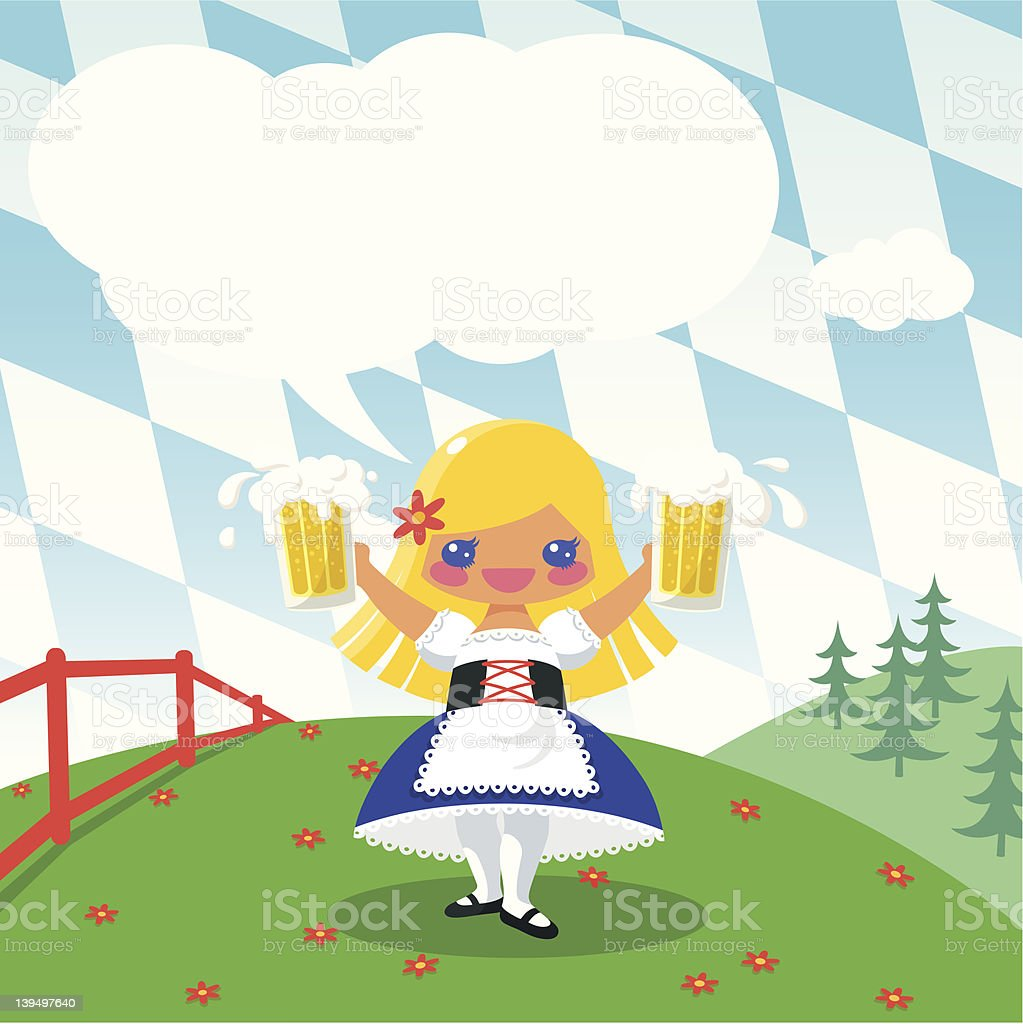Invitation to the Octoberfest. royalty-free stock vector art