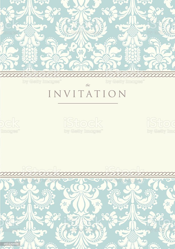 Invitation to the wedding or announcements vector art illustration
