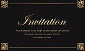 Fancy gold decorative invitation.