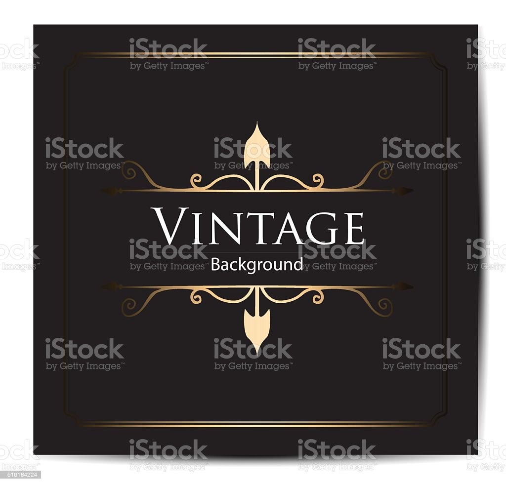 Invitation vintage card vector art illustration