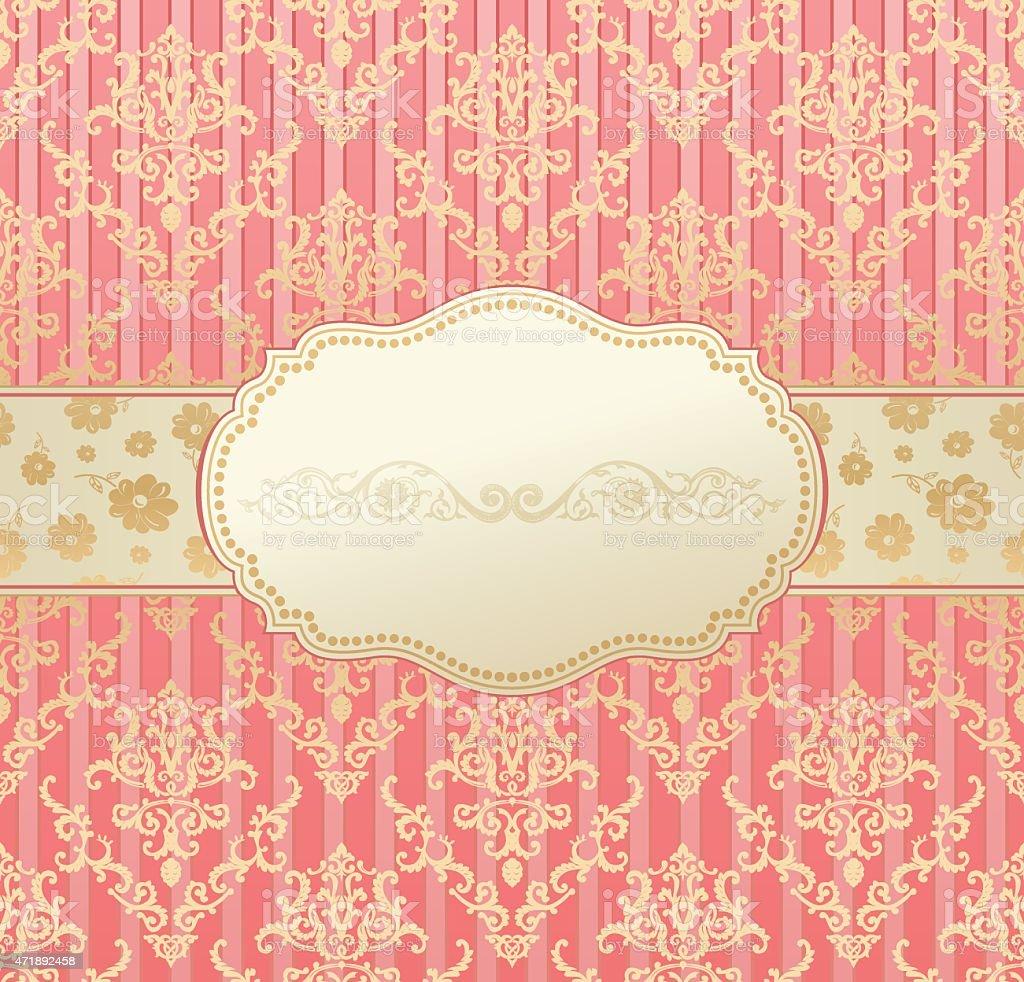 Invitation vintage label vector frame pink stock vector art invitation vintage label vector frame pink royalty free stock vector art stopboris Image collections