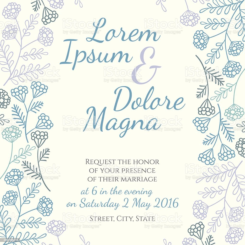 Invitation wedding card vector art illustration